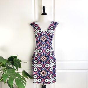 French Connection Electric Mosaic Sheath Dress